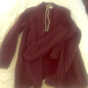 14th and Union cozy cable knit cardigan. Size M.